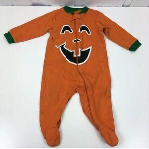 Other - 5/$25 Jack o Lantern Halloween Footed Pajamas 6-9m